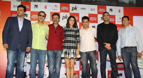 The Film's Lead Pair Aamir And Anushka Present At PK Official Mobile Game Launch