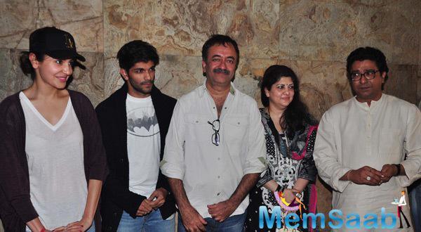 Film P.K Special Screening For Sachin Tendulkar And Raj Thakrey