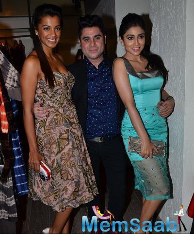 Mugdha Godse And Shriya Saran Strike A Pose With Rajat Tangri During The Launch Of Rajat Tangri New Dress Collection