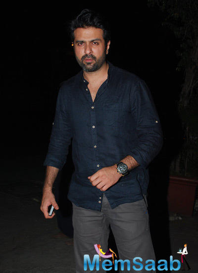 Harman Baweja Pose For Camera At Jackie Bhagnani's Birthday Bash