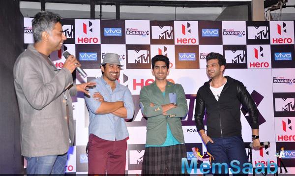 Rannvijay,Vijender And Karan Cool Look At MTV Hero Roadies X2 Press Meet