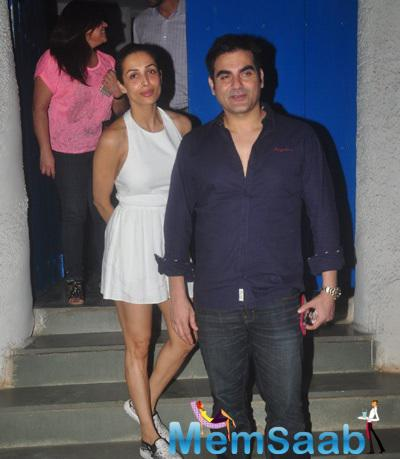 Malaika, Arbaaz On A Dinner Date At Olive