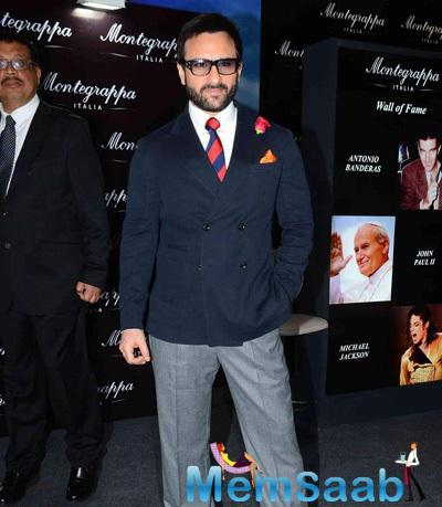 Saif Ali Khan Unveiled Italy's Montegrappa Luxury Brand In Mumbai