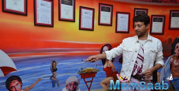 Irrfan Khan At 98.3 FM Radio Mirchi For Promoting Piku Movie
