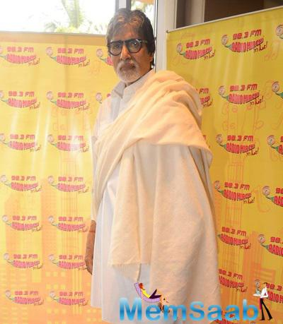 Amitabh Bachchan Casual Look At 98.3 FM During The Promotion Of Piku Film