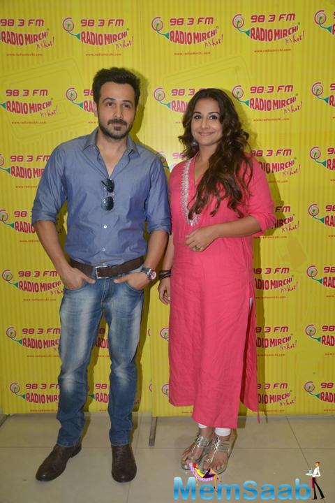 Emraan Hashmi And Vidya Balan Promote Their Upcoming Flick Hamari Adhuri Kahani At Red FM