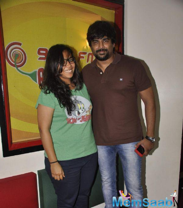 Madhavan At Radio Mirchi Studio Celebrating The Success Of Tanu Weds Manu Returns
