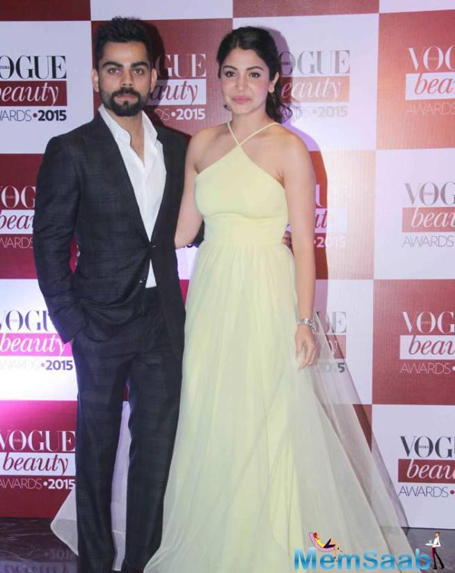 Anushka Sharma And Virat Kohli Look Perfect At Vogue Beauty Awards