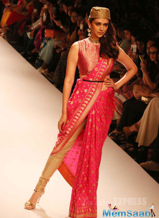 Aditi Was A Goddess As She Showcased A Design By Ritu Kumar At LFW
