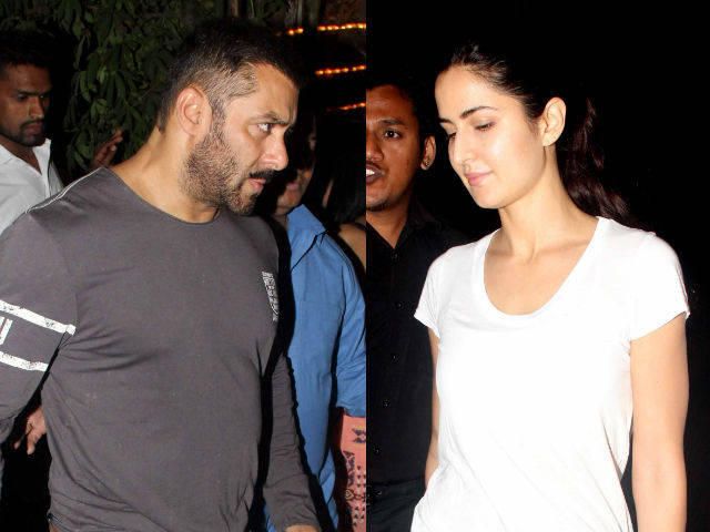 What going on in Bollywood old couple get patched is it so Katrina Kaif was spotted with Salman Khan at Suburban