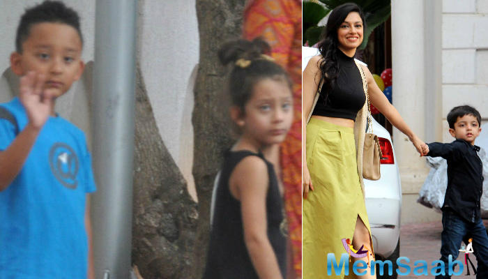 Sanjay Dutt and Maanyata's children - Shahraan and Iqra and filmmaker-actress Divya Khosla Kumar's four-year-old son Ruhaan were also attended the party.