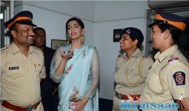 Sonam was reportedly thrilled to be a part of the ceremony. At the event, the Khoobsurat star also clicked selfies with a few women and later took to Instagram to share