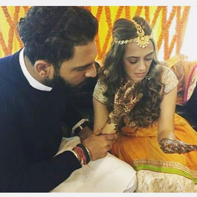 Hazel Keech and Yuvraj Singh's pre-wedding bash