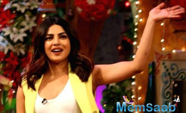 Priyanka Chopra shot for a special episode of The Kapil Sharma Show
