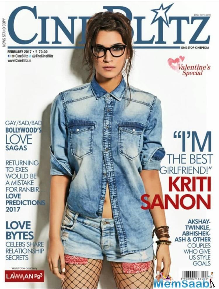 Kriti Sanon on CineBlitz India Magazine cover February 2017
