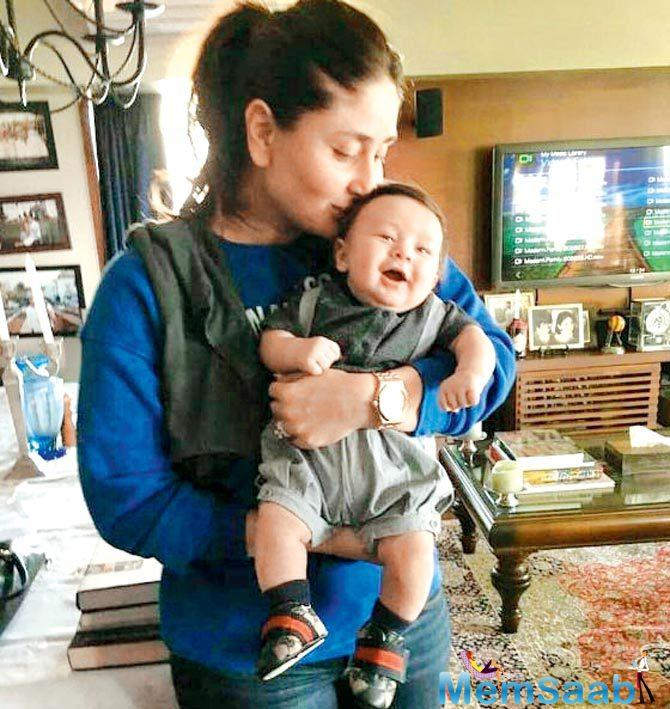This photo of Kareena Kapoor Khan kissing her son Taimur is too cute!