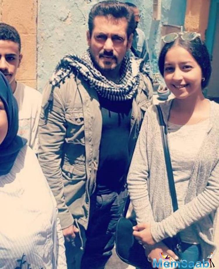 The film is currently being shot in Morocco, and the images of Salman Khan have gone viral.
