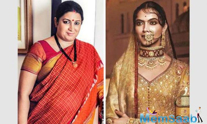 Padmavati rangoli vandalised, Deepika urges Smriti Irani to take action