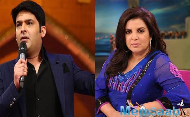 Kapil Sharma responds to Farah Khan's