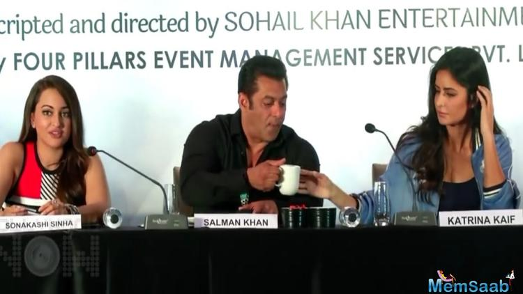 Salman Khan and Katrina Kaif share a cup of coffee
