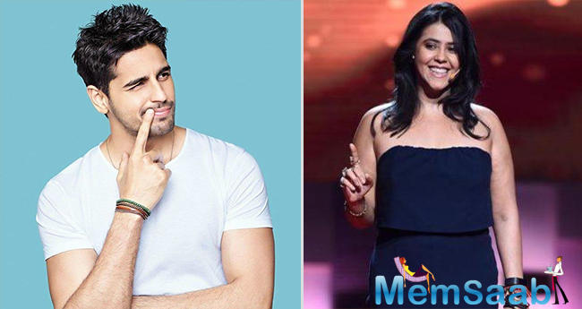 Ekta Kapoor and Sidharth Malhotra to come together for a love story