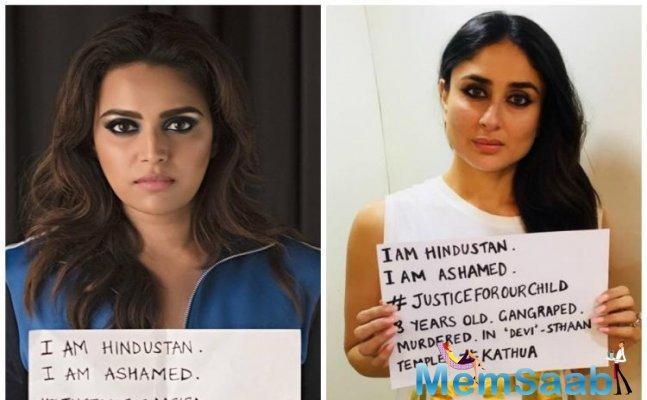 Swara Bhasker today defended her