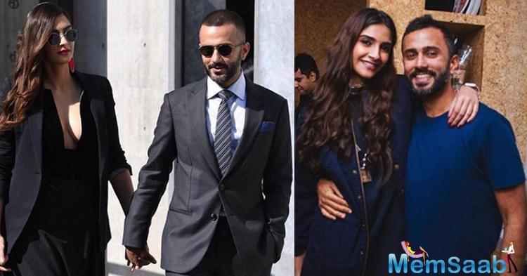 Sonam Kapoor stuns in a black plunging neckline gown in Milan