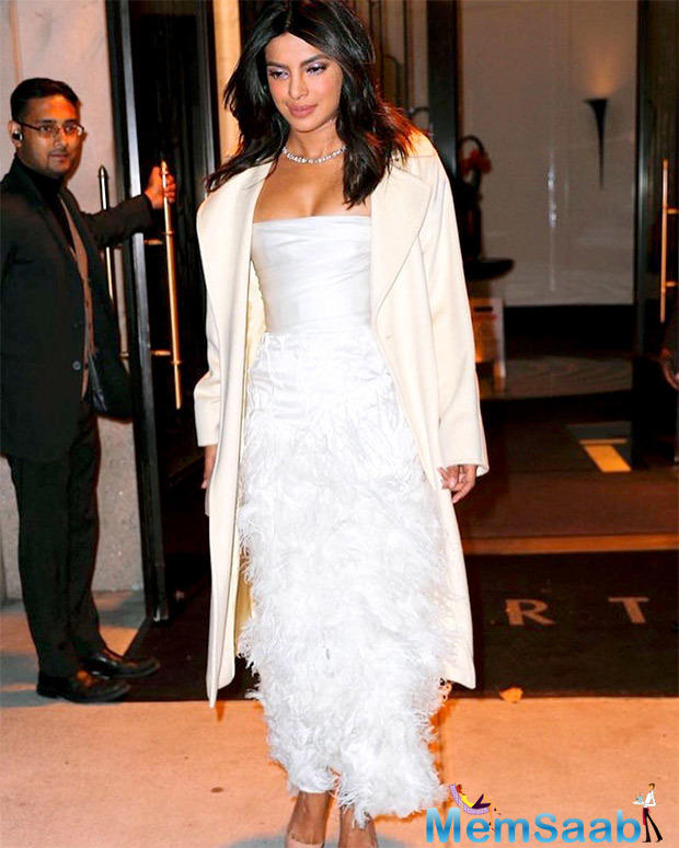 Priyanka Chopra has been trending on social media for her bridal shower party held at the Tiffany & Co. Blue Box Café in New York on Saturday.