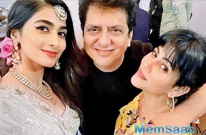 Sajid Nadiadwala and Warda celebrate 18 years of togetherness on the sets of housefull 4