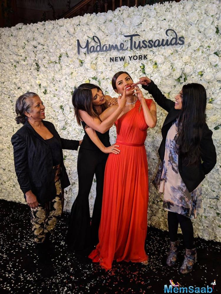 """The museum of Madame Tussauds in the New York City unveiled Priyanka Chopra's first ever wax statue post marriage, in the name of """"Priyanka Chopra Jonas"""" on Thursday."""