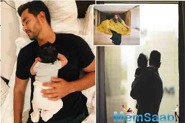 See photo: Little Mehr cuddled in dad Angad Bedi's arms will melt your heart