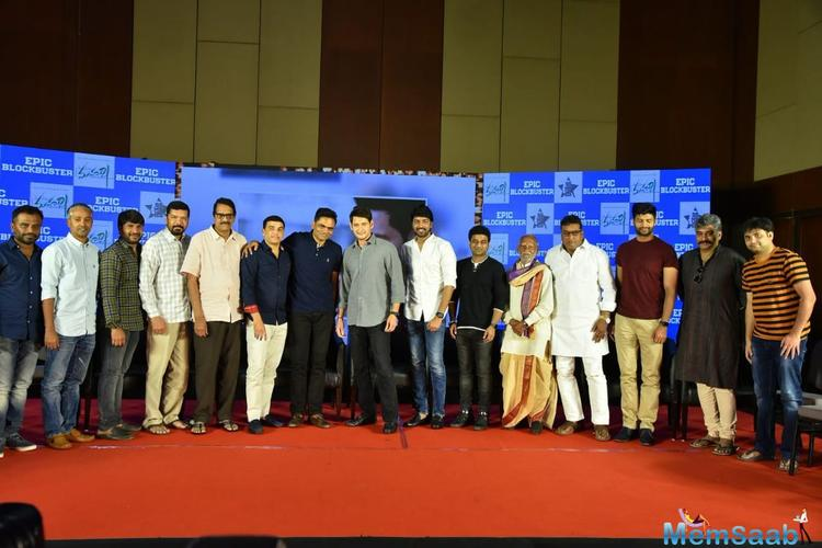 The entire cast and crew was present at the success meet in Hyderabad. Maharshi team looked happy like never before.