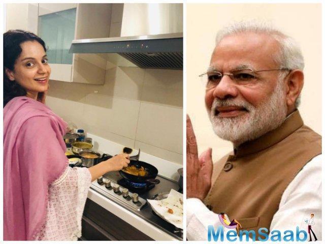 Kangana, who will be next seen in Ashwiny Iyer Tiwari's 'Panga', celebrates Narendra Modi's victory with Chai and Pakoras.