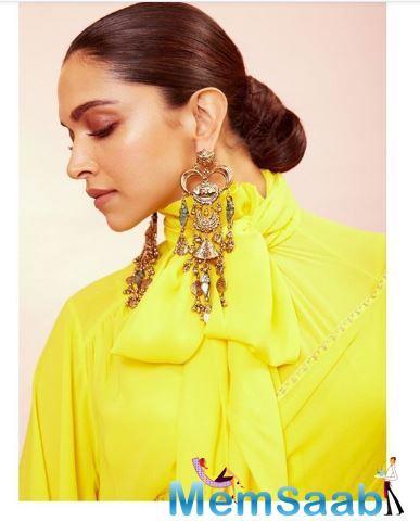 Deepika Padukone unleashes her swag in this new ruffled saree look
