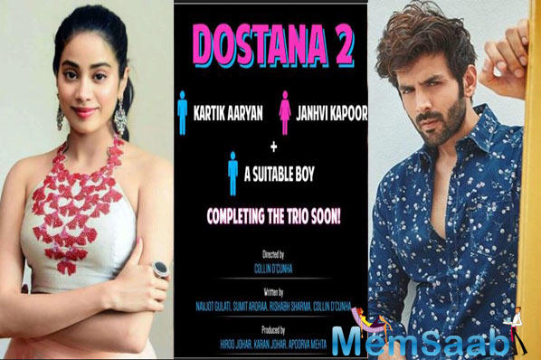 Here's what Janhvi Kapoor has to say on being part of 'Dostana 2'