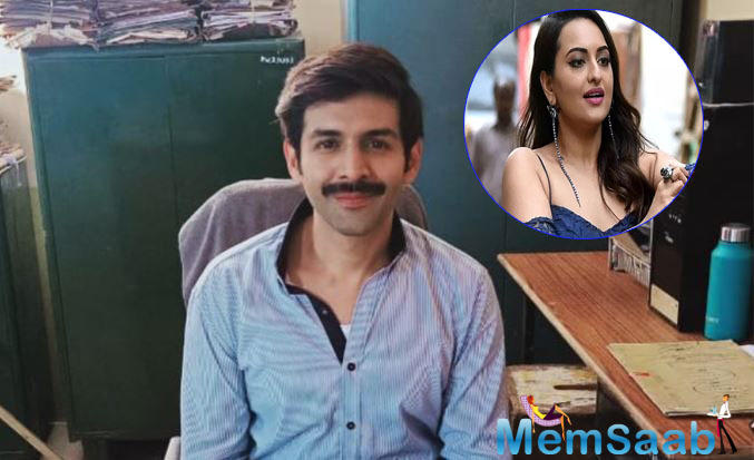 Kartik Aaryan's Pati, Patni Aur Who look out: Sonakshi Sinha wants Kartik Aaryan to Keep this new look for life