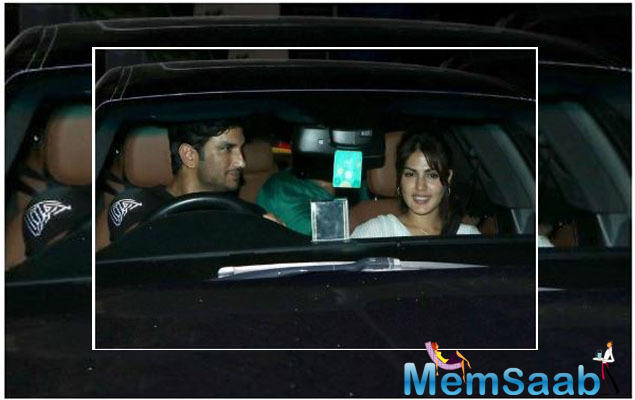 Rumoured lovebirds Sushant Singh Rajput and Rhea Chakraborty step out for dinner date