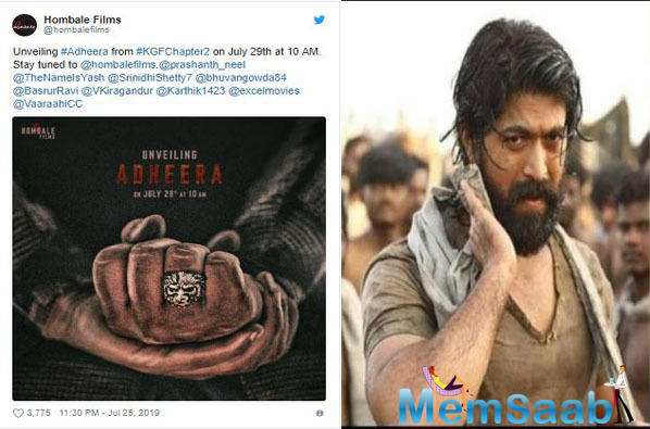 KGF Chapter 2: The makers of Yash starrer unveil poster of