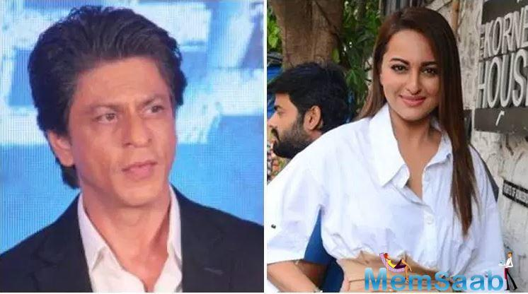 While Sonakshi has never got a chance to act with Shah Rukh in a film, the actress often meets King Khan at gatherings and shares a cordial relation with him. Also, Sonakshi has starred in an SRK produced film, 'Ittefaq.'