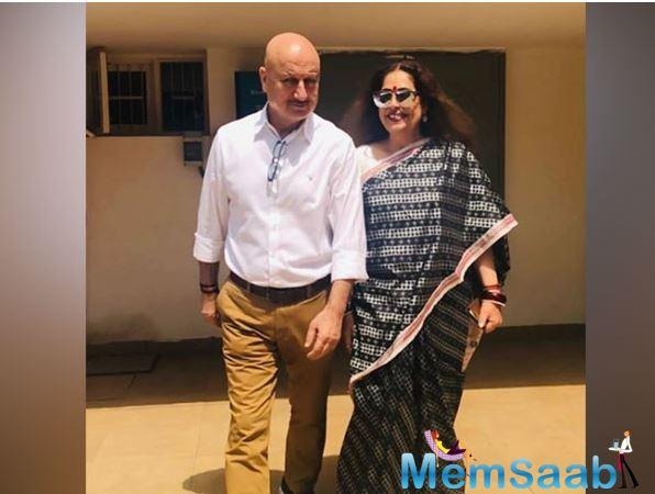 Anupam is often seen extending support to his actor-turned-politician wife and tries to walk shoulder to shoulder with her.