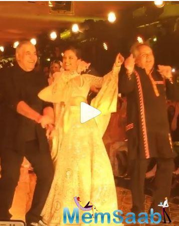 Apart from Deepika Padukone, Amitabh Bachchan's family including wife Jaya Bachchan, daughter Shweta and son, Abhishek, Shloka Ambani, Isha Ambani, Radhika Merchant, Isheta Salgaocar attended the event.