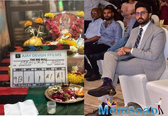 Abhishek Bachchan begins shooting for Ajay Devgn's 'The Big Bull'