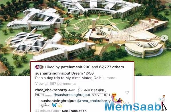 Rhea Chakraborty drops a hint about Sushant Singh Rajput's dream house