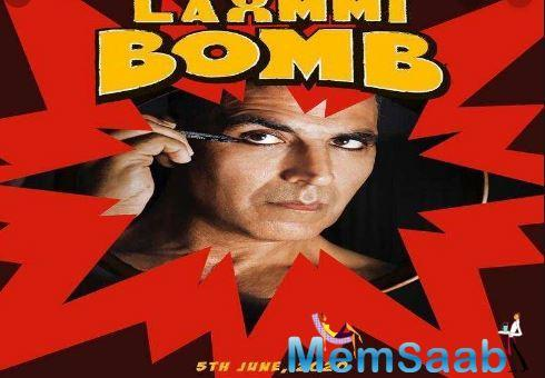 Akshay Kumar on Thursday shared his first look from the upcoming film 'Laxmmi Bomb' during the auspicious period of Navaratri.