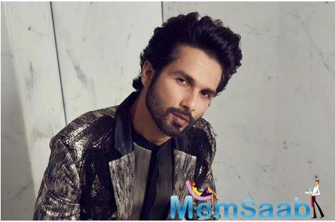 Shahid Kapoor, who is on a roll with the success of