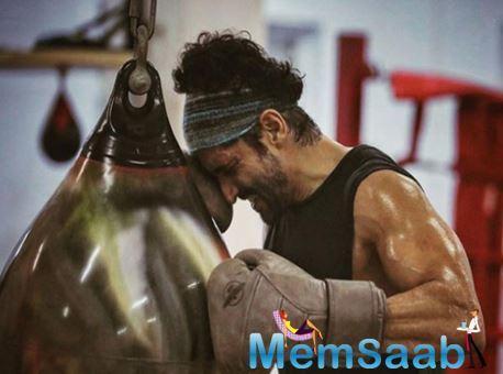 Farhan Akhtar injured during an action shot