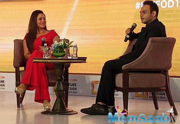 Prior to attending this event, Gauri Khan had shared a few photos of her work from the film Baazigar, and recalled how 'Gauri Khan Designs' has come a long way since then.