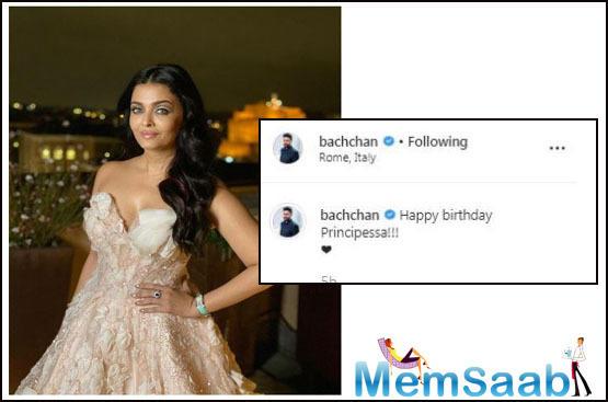 Abhishek Bachchan wishes wife Aishwarya on her birthday in most romantic way; see