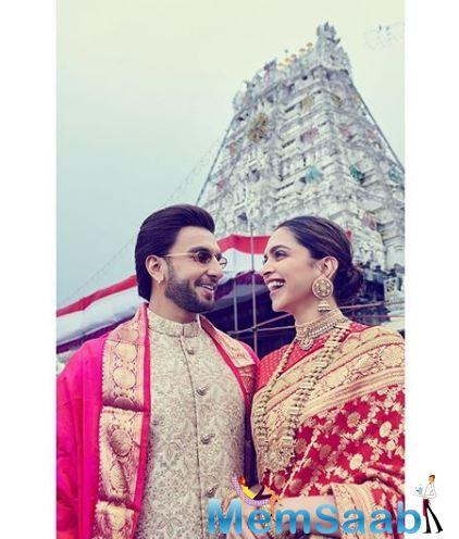 Deepika posted a new picture of her husband Ranveer with a very cute message on love.