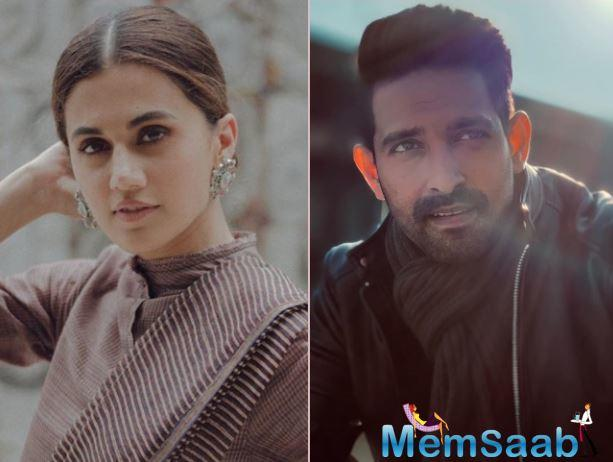 Taapsee Pannu and Vikrant Massey to share screen space together for the first time in a romantic thriller?